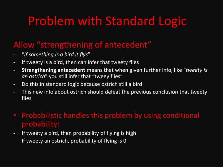 Problem with Standard Logic