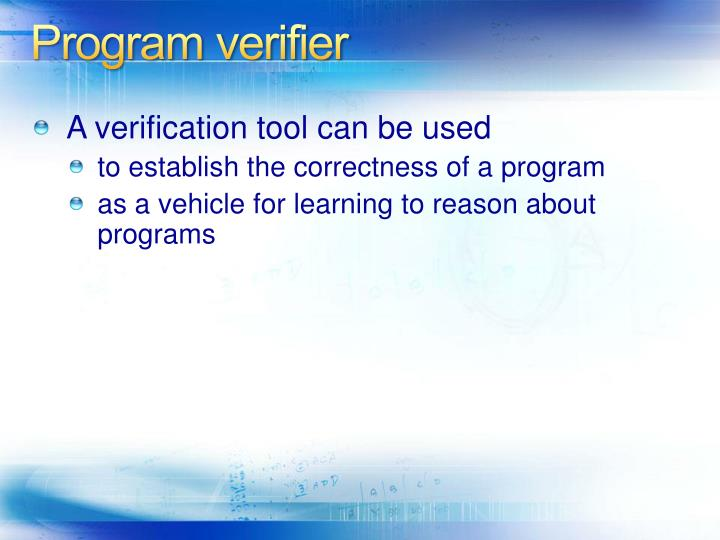 Program verifier
