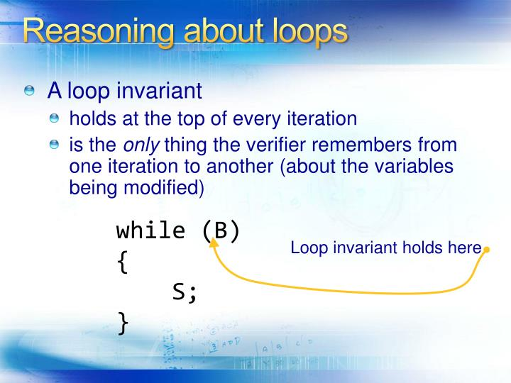 Reasoning about loops