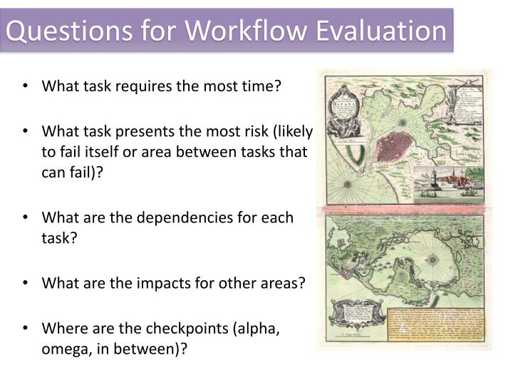 Questions for Workflow Evaluation