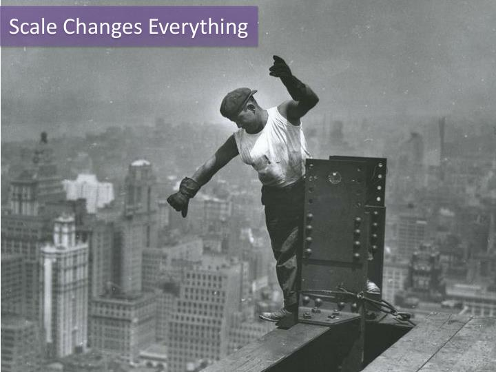 Scale Changes Everything