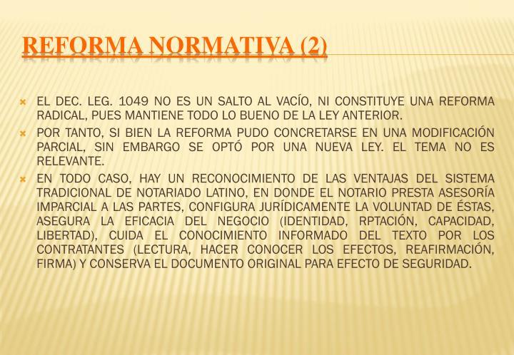 REFORMA NORMATIVA (2)