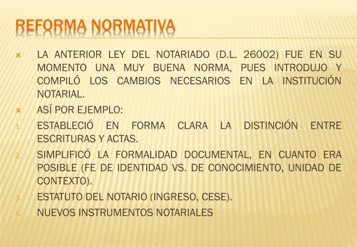 REFORMA NORMATIVA