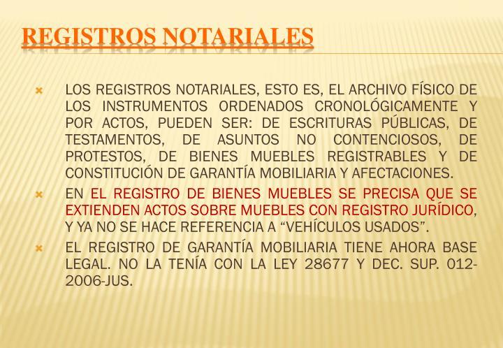 REGISTROS NOTARIALES