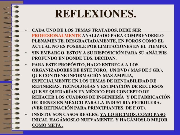 REFLEXIONES.