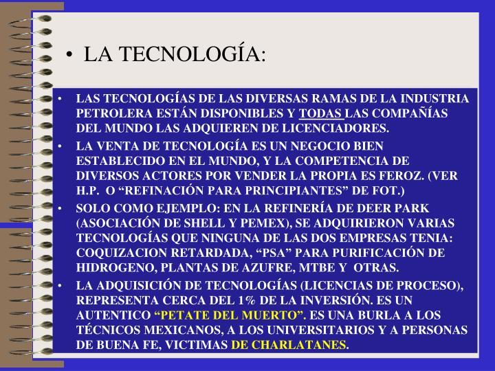 LA TECNOLOGÍA:
