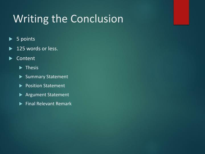 Philosophy paper conclusion