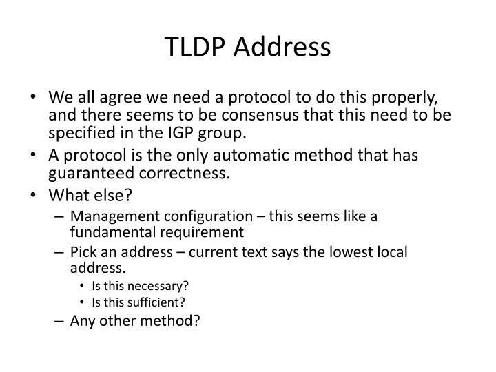 TLDP Address