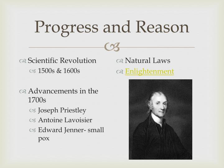 Progress and Reason