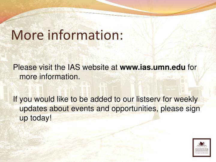 More information: