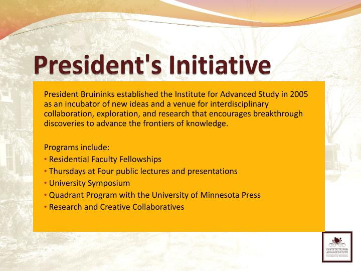 President's Initiative