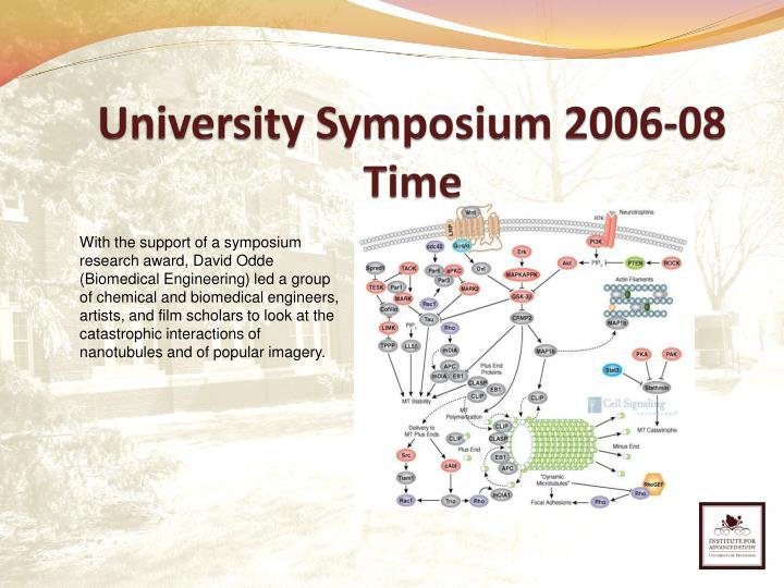 University Symposium 2006-08
