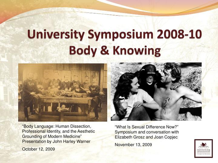 University Symposium 2008-10