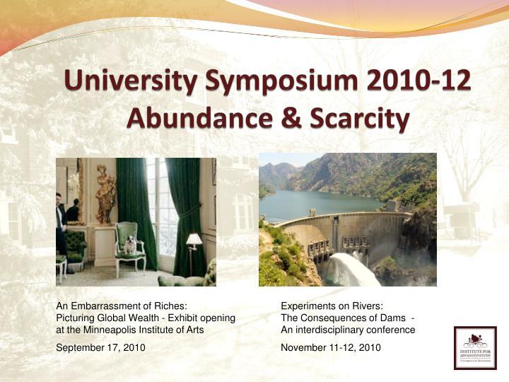 University Symposium 2010-12