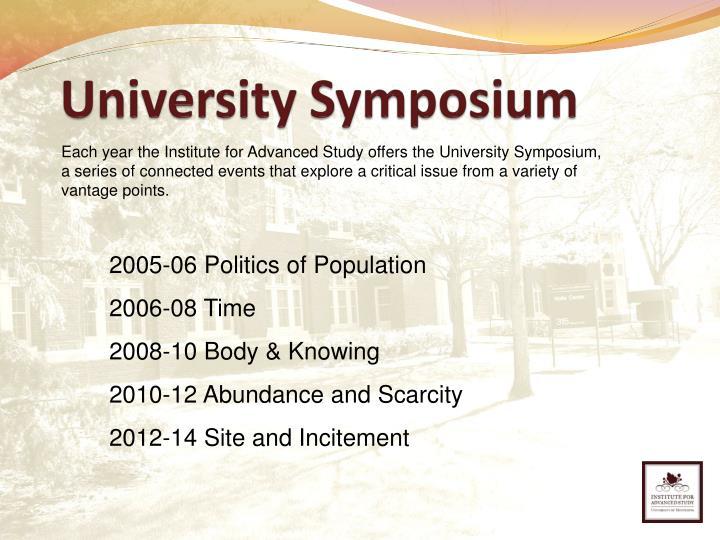 University Symposium