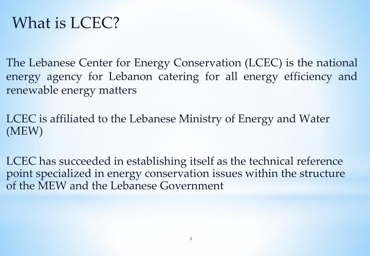 What is LCEC?