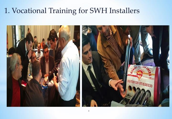 1. Vocational Training for SWH Installers