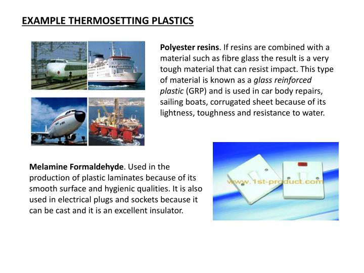 EXAMPLE THERMOSETTING PLASTICS