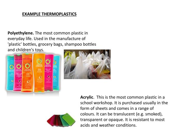 EXAMPLE THERMOPLASTICS