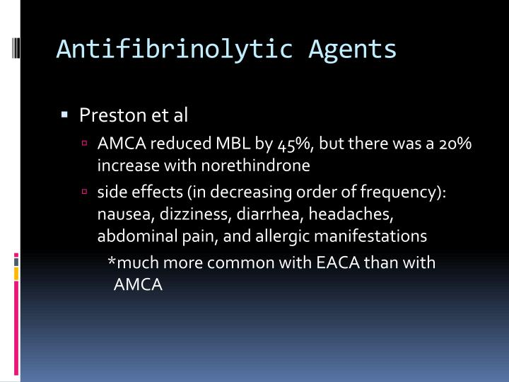 Antifibrinolytic