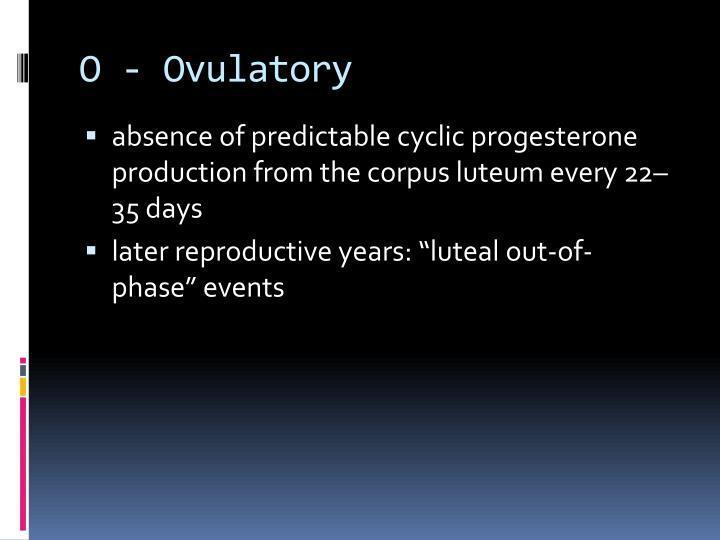 O - Ovulatory