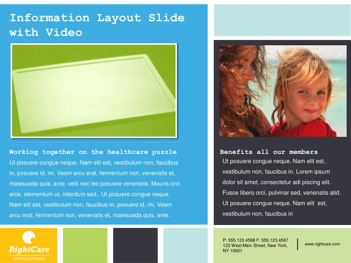 Information Layout Slide with Video