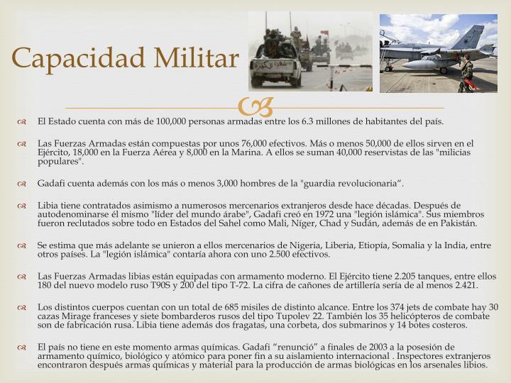 Capacidad Militar
