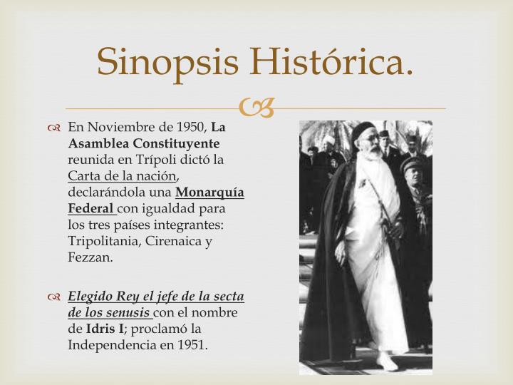 Sinopsis Histórica.