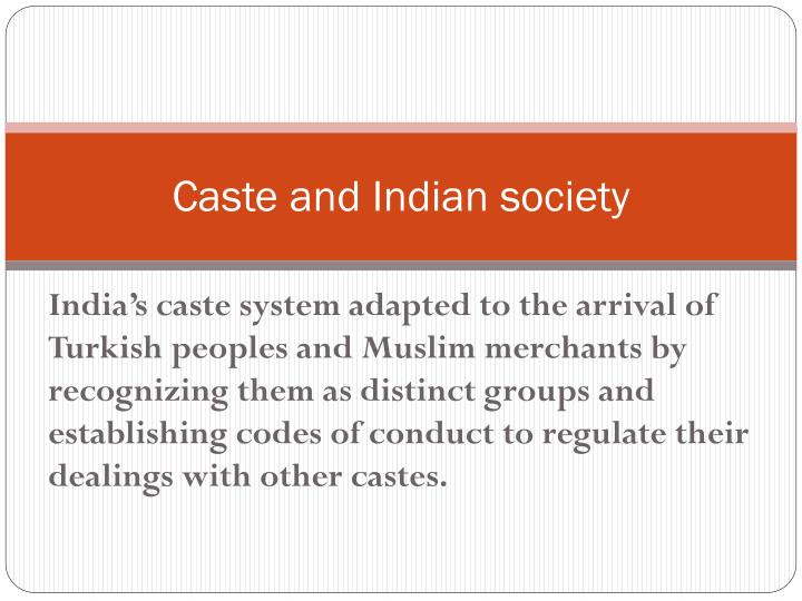 Caste and Indian society