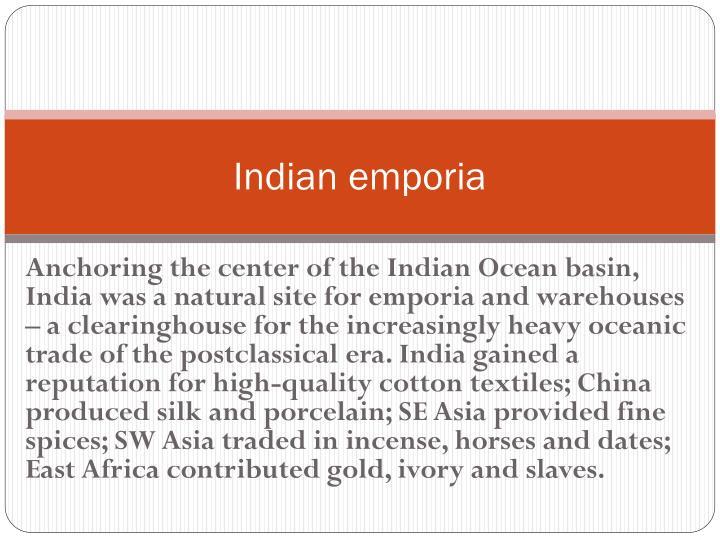 Indian emporia