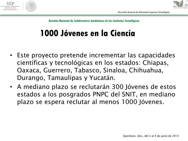 1000 Jóvenes en la Ciencia