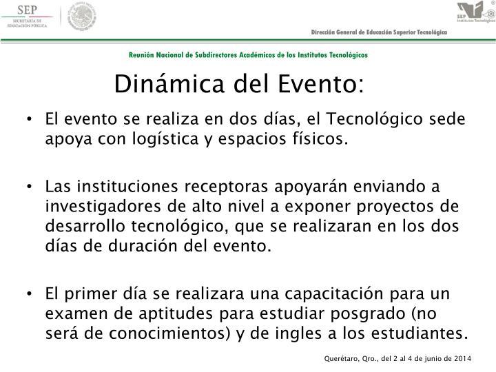 Dinámica del Evento: