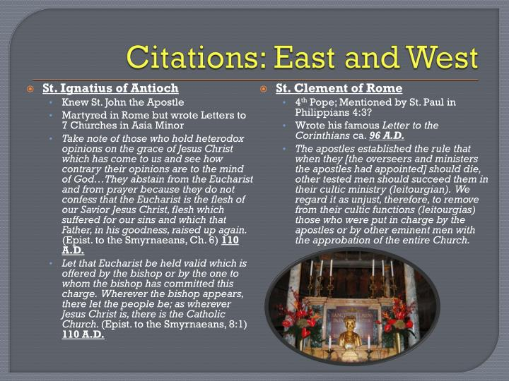 Citations: East and West