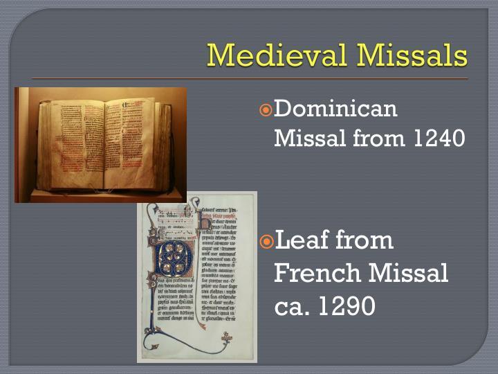 Medieval Missals