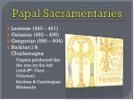 papal sacramentaries