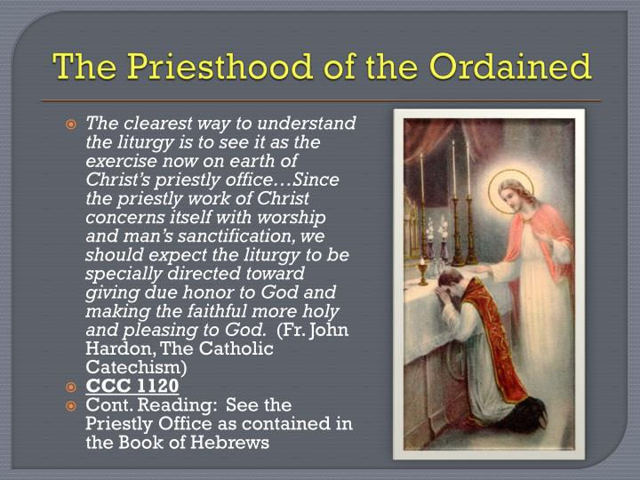 The Priesthood of the Ordained
