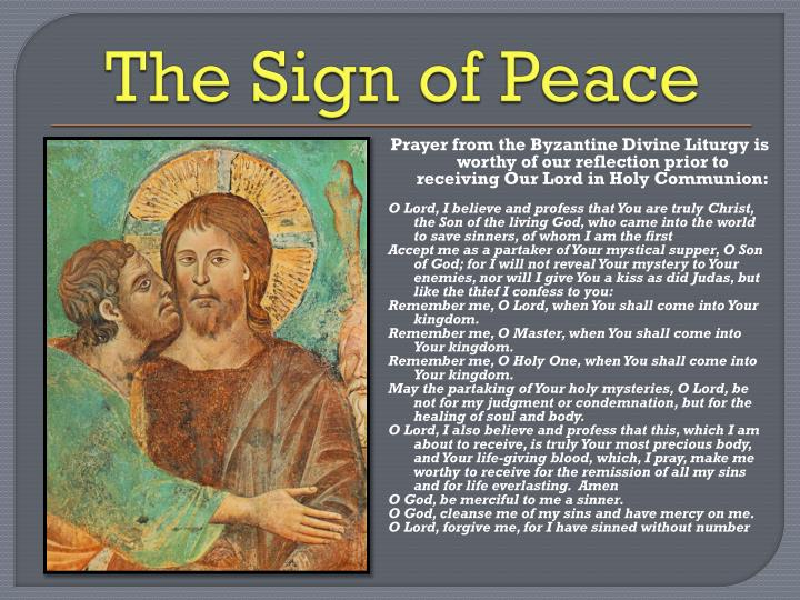 The Sign of Peace