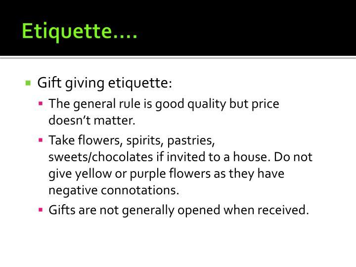 Etiquette….