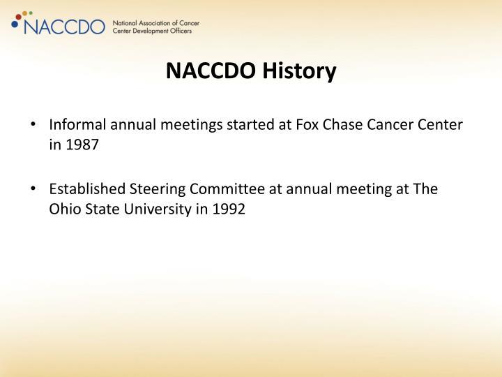 NACCDO History