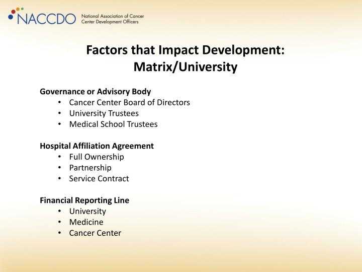 Factors that Impact Development: