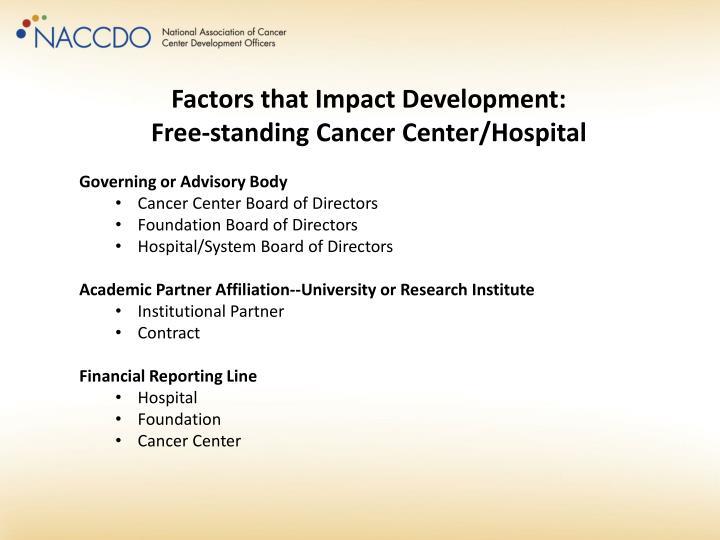 Factors that Impact Development: