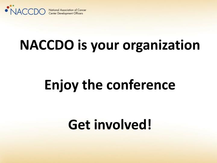 NACCDO is your organization