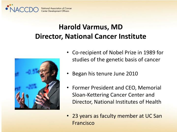 Harold Varmus, MD