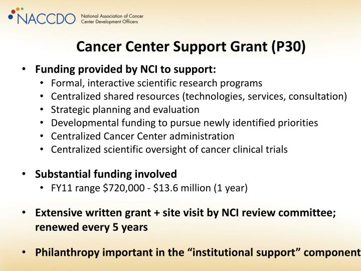 Cancer Center Support Grant (P30)