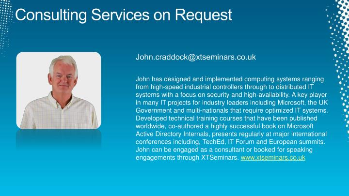 Consulting Services on Request