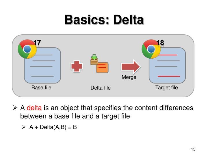 Basics: Delta
