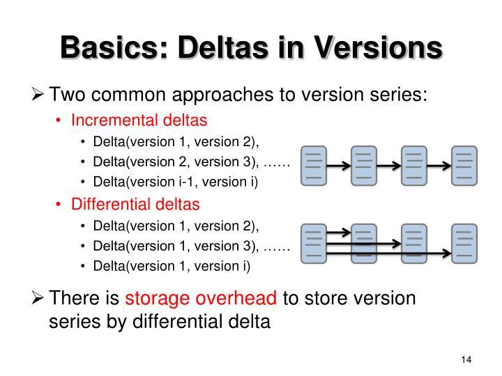 Basics: Deltas in Versions