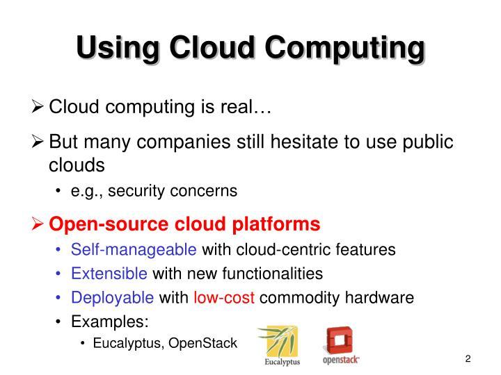 Using Cloud Computing