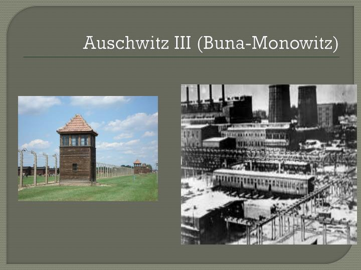 Auschwitz III (Buna-