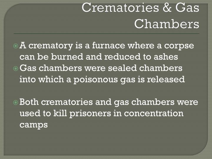 Crematories & Gas Chambers